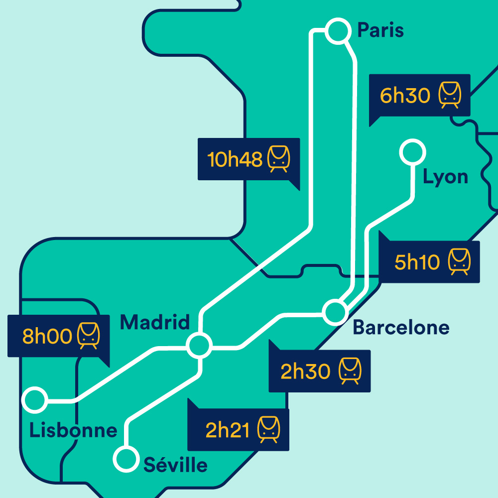Carte Andalousie Bord De Mer.Train Espagne Prix Billet De Train Destinations Trainline